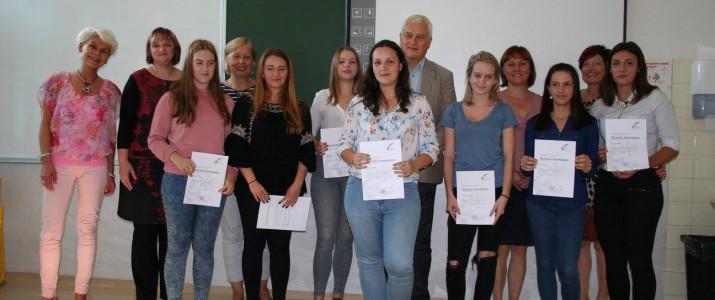 Podelitev Nemških jezikovnih diplom