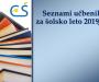 Seznam učbenikov za šolsko leto 2019/2020